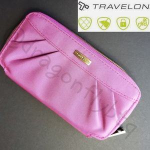 NWOT Travelon RFID Zip Around Wallet